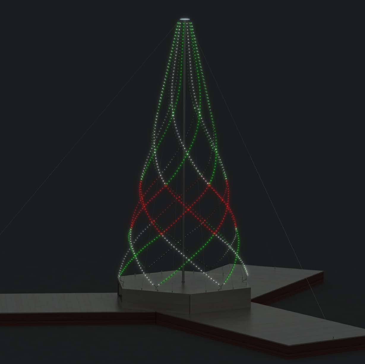 Sketch of LEDs on ther tree
